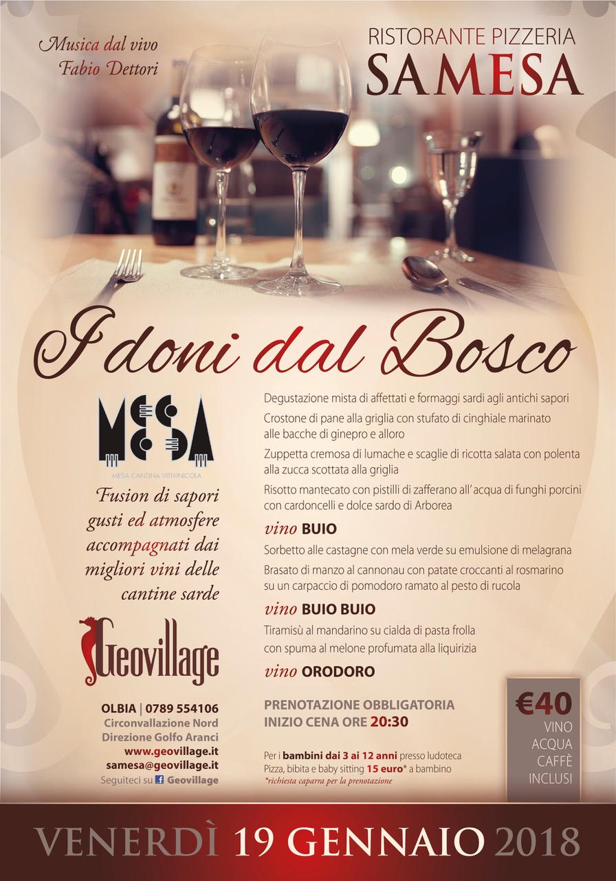 Conosciuto CENE A TEMA: I DONI DEL BOSCO! - Hotel Olbia Resort | Geovillage EY58